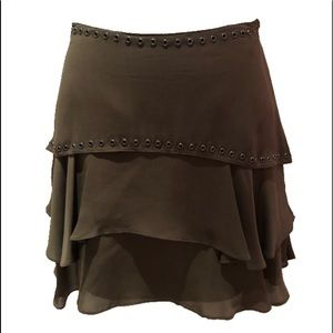 Haute Hippie Olive Circle Skirt